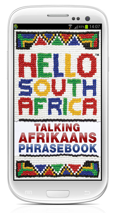 Talking Afrikaans Phrasebook App (English to Afrikaans audio phrases)